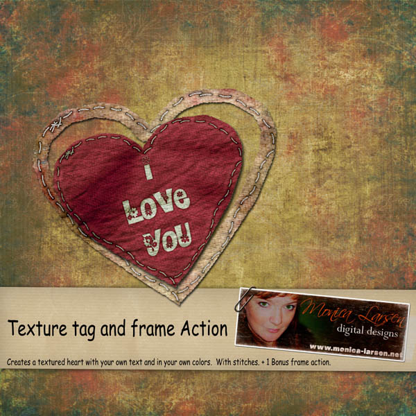 Texture tag and frame action by Monica Larsen
