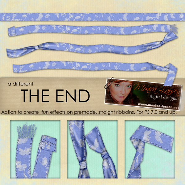 TheEnd Ribbon ACTION by Monica Larsen