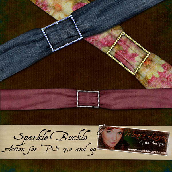 Sparkle Buckle Action by Monica Larsen