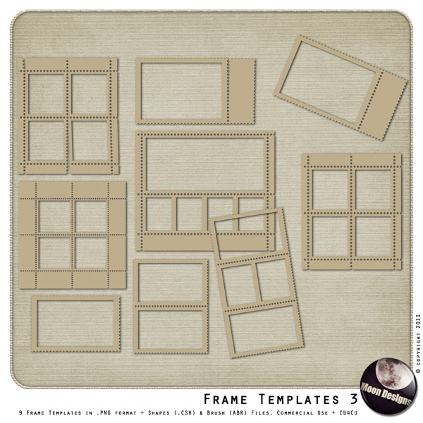 Frame Templates - Preset 3 by MoonDesigns