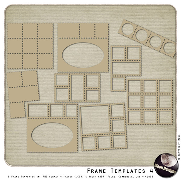 Frame Templates - Preset 4 by MoonDesigns