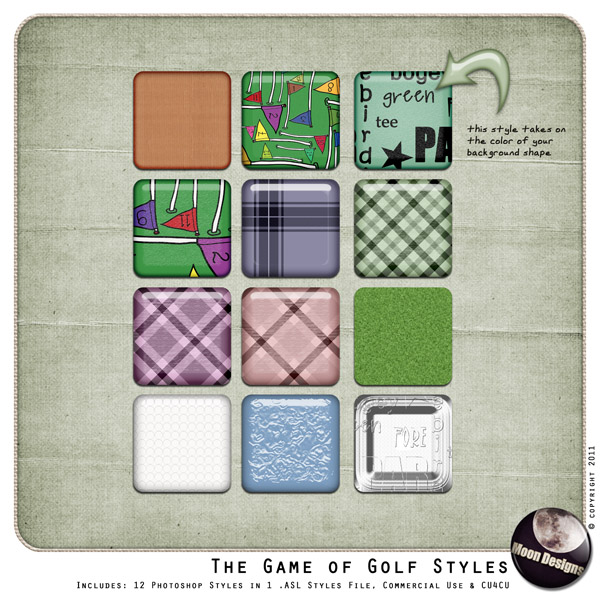 The Game of Golf Styles by MoonDesigns
