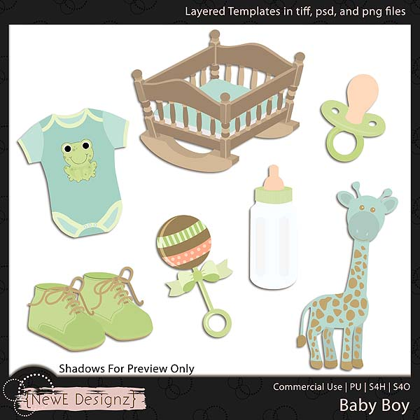 EXCLUSIVE Layered Baby Boy Templates Set 1 by NewE Designz