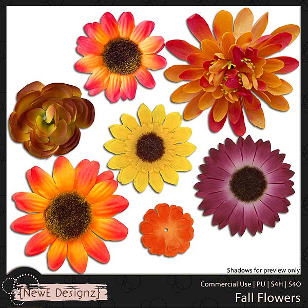 EXCLUSIVE Fall Flowers by NewE Designz