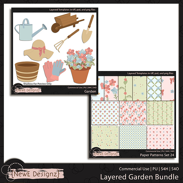 EXCLUSIVE Layered Garden Templates BUNDLE by NewE Designz