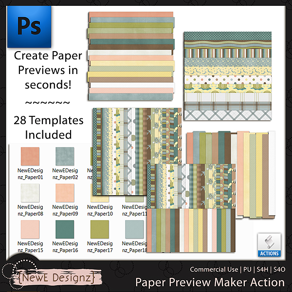EXCLUSIVE PS Paper Preview Action by NewE Designz