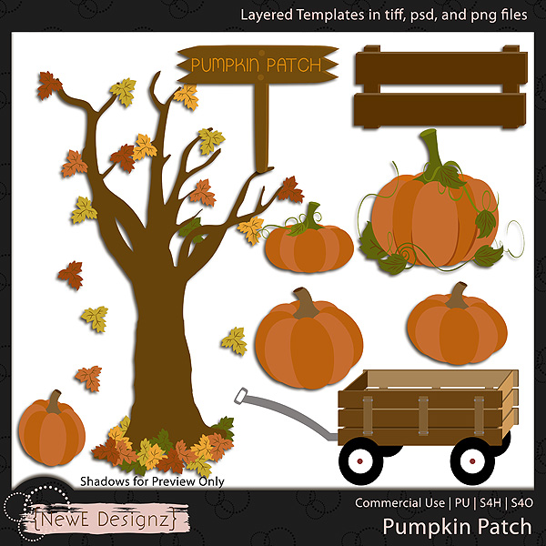 EXCLUSIVE Layered Pumpkin Patch Templates by NewE Designz