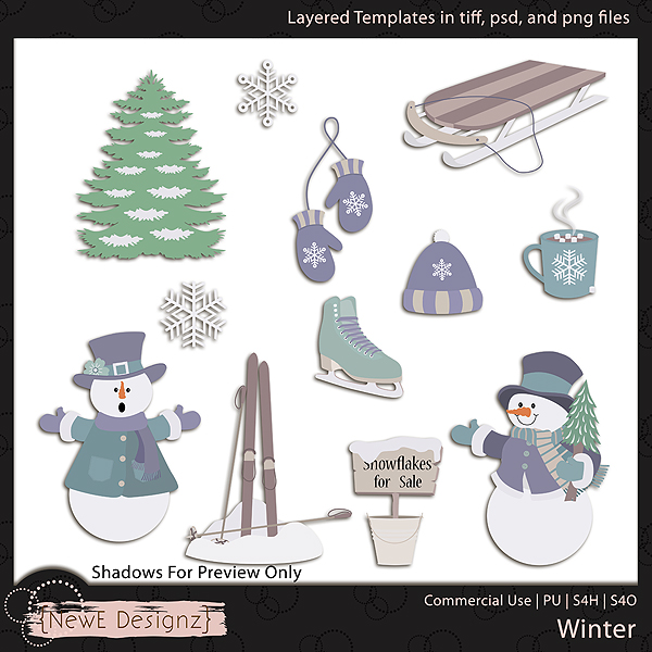 EXCLUSIVE Layered Winter Templates by NewE Designz