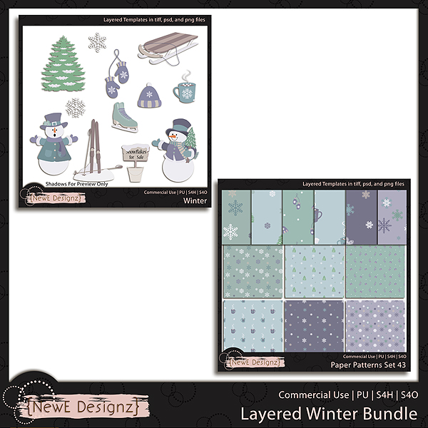 EXCLUSIVE Layered Winter Bundle Templates by NewE Designz