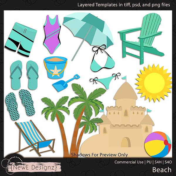 EXCLUSIVE Layered Beach Templates by NewE Designz
