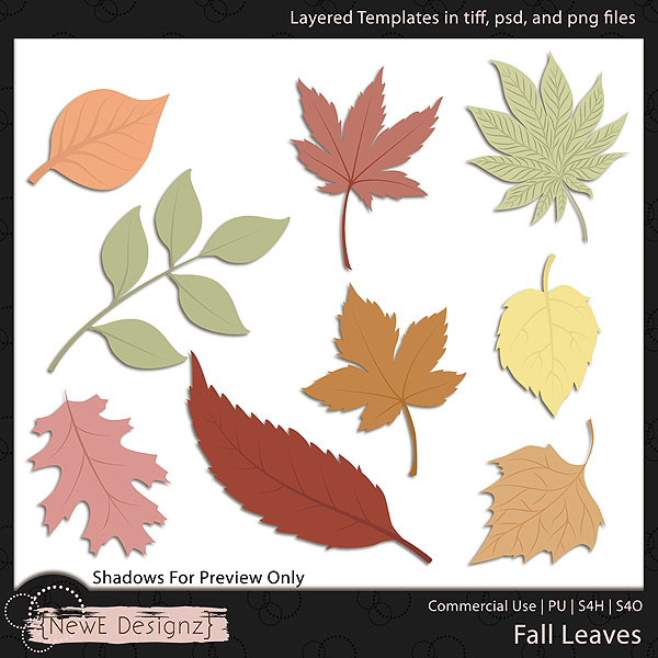 EXCLUSIVE Layered Fall Leaves Templates by NewE Designz