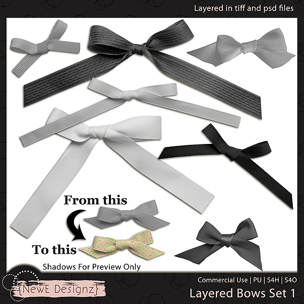 EXCLUSIVE Layered Bows by NewE Designz