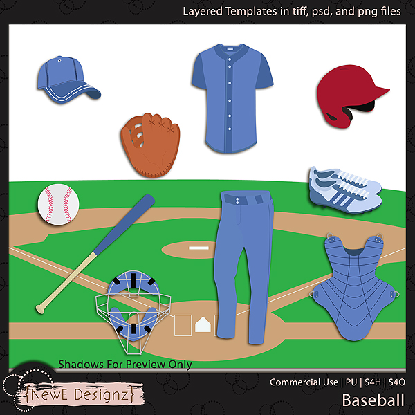 EXCLUSIVE Layered Baseball Templates By NewE Designz