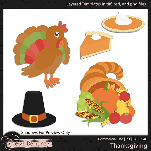 EXCLUSIVE Layered Thanksgiving Templates by NewE Designz