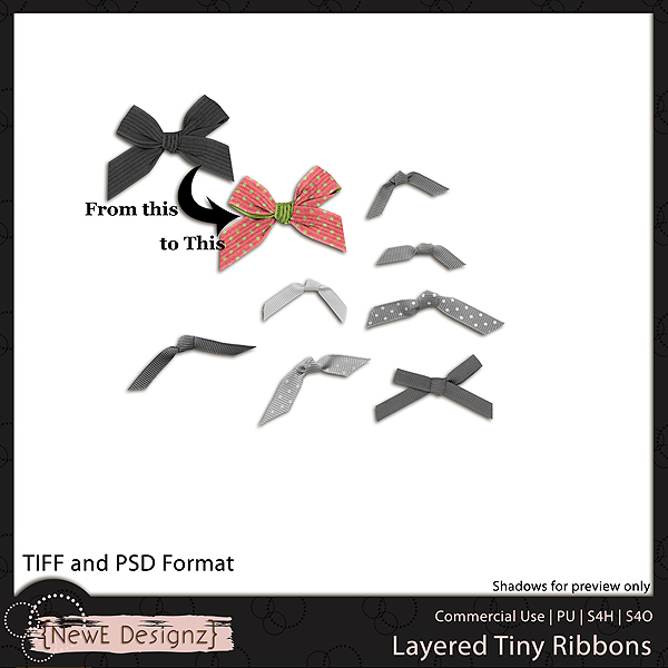 EXCLUSIVE Layered Tiny Ribbons by NewE Designz