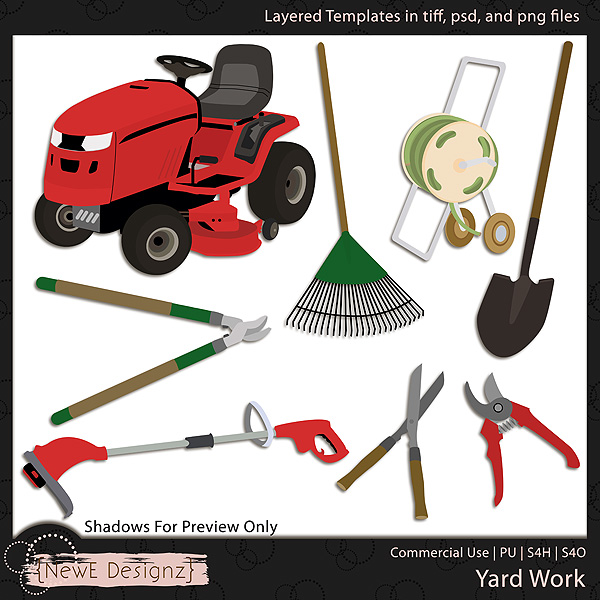 EXCLUSIVE Layered Yard Work Templates by NewE Designz