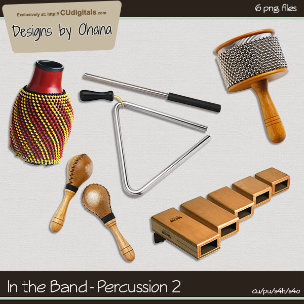 Band Music - Percussion 2 - EXCLUSIVE Designs by Ohana