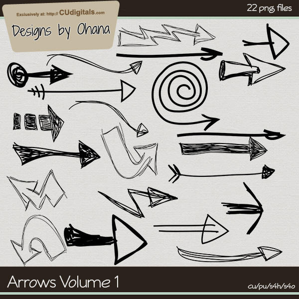 Arrow Doodles Vol 1 - EXCLUSIVE Designs by Ohana