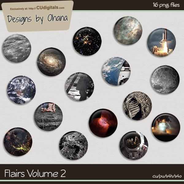 Flairs Vol 2 - Space Travel - EXCLUSIVE Designs by Ohana