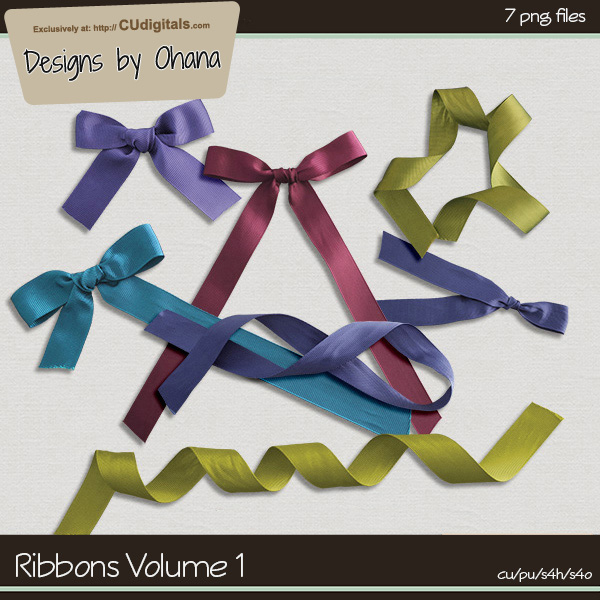 Ribbons Vol 1 - EXCLUSIVE Designs by Ohana