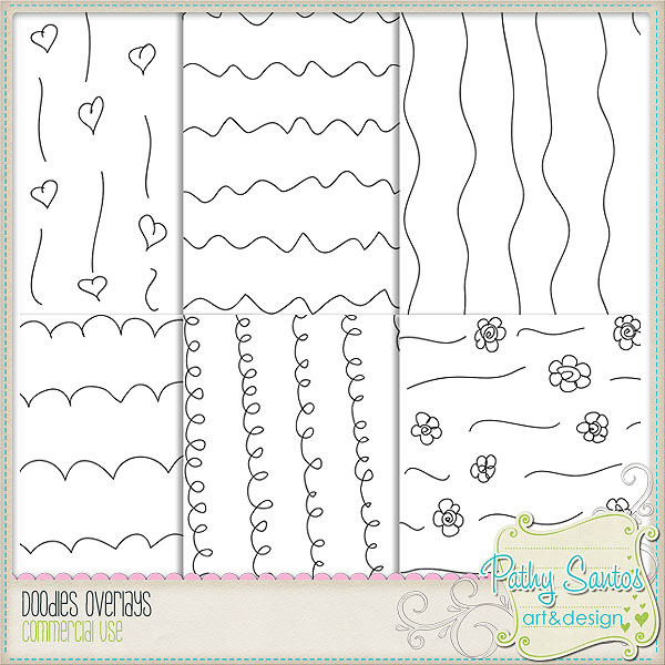 Doodles Overlays by Pathy Design