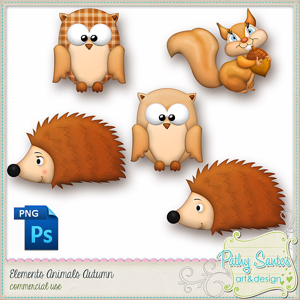 Elements Animals Autumnn by Pathy Design