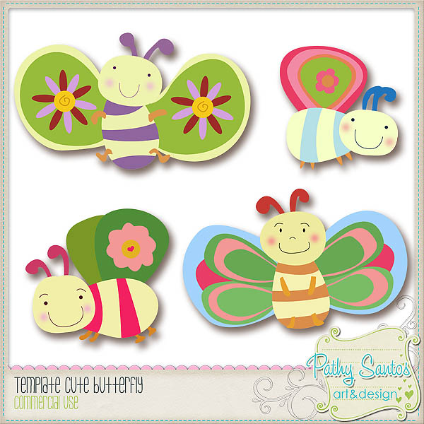 Template Cute Butterfly by Pathy Design