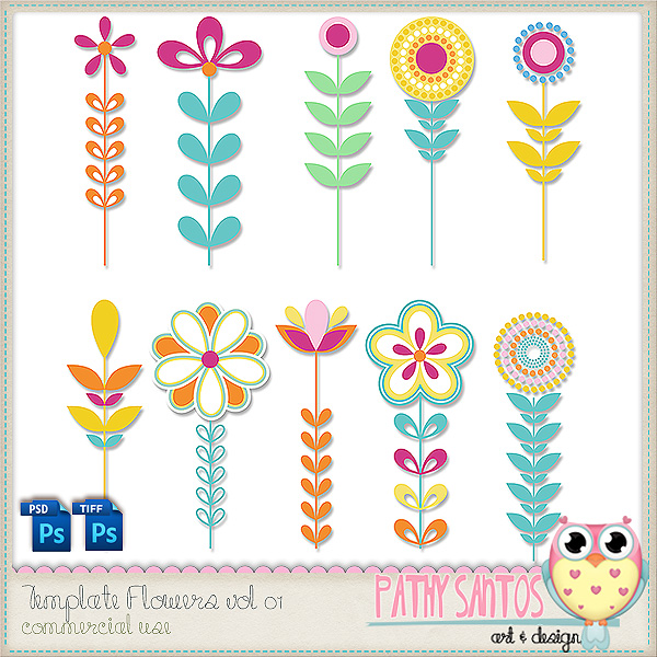 Template Flowers 01 by Pathy Design