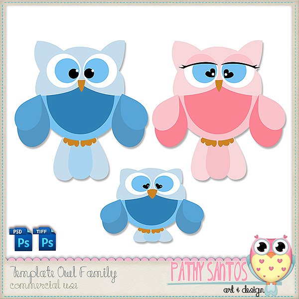 Template Owl Family by Pathy Design