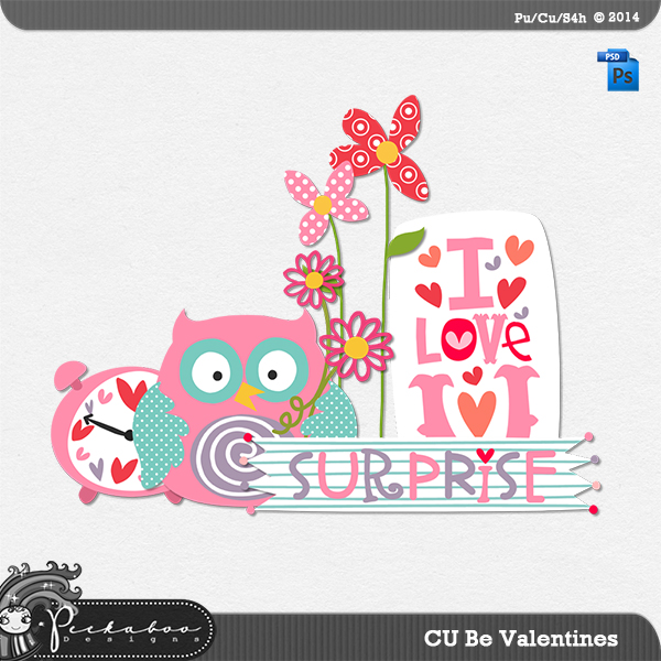 Be Valentines Layered Template by Peek a Boo Designs