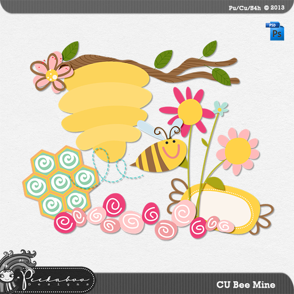 Bee Mine Layered Template by Peek a Boo Designs