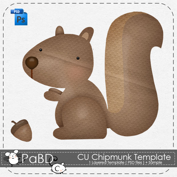Chipmunk Layered Template by Peek a Boo Designs