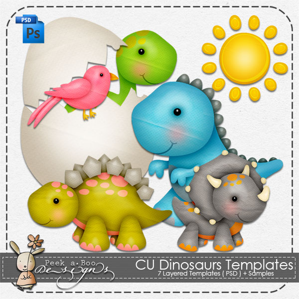 Dinosaurs Layered Template by Peek a Boo Designs
