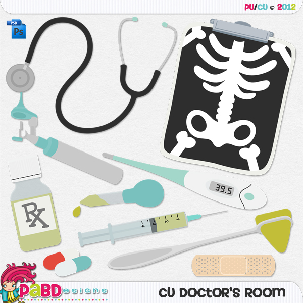Doctor's Room Layered Template by Peek a Boo Designs