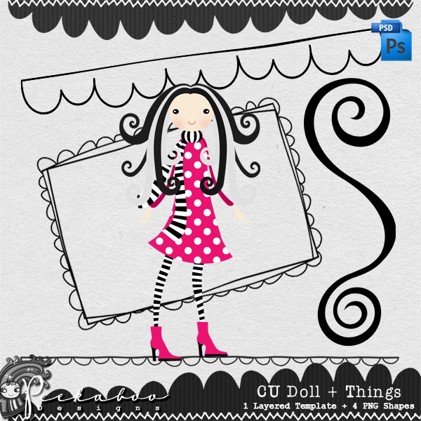 Doll and Things Layered Template by Peek a Boo Designs