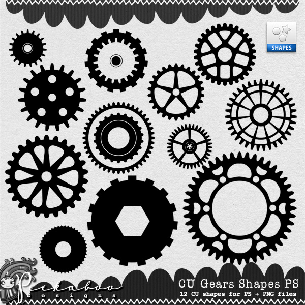 Gears - PS Shapes by Peek a Boo Designs