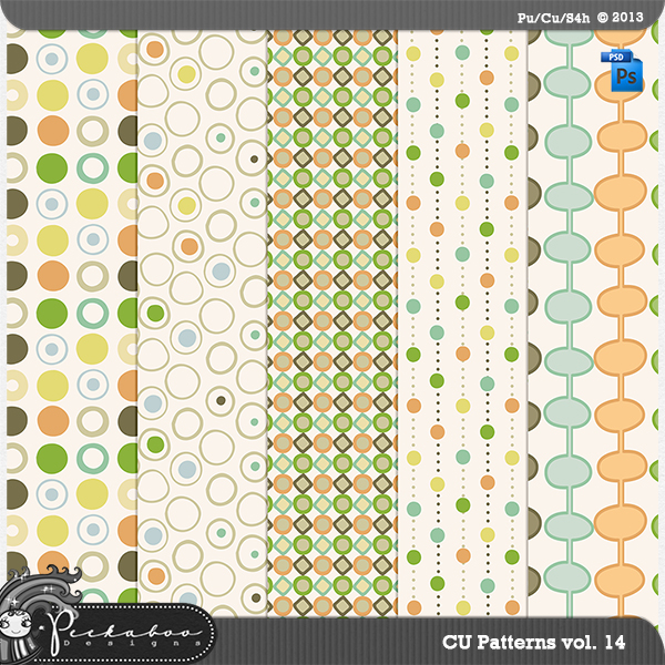 Pattern Template Paper vol 14 by Peek a Boo Designs