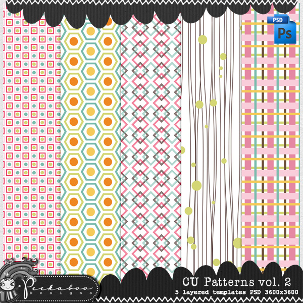 Pattern Template Paper vol 02 by Peek a Boo Designs