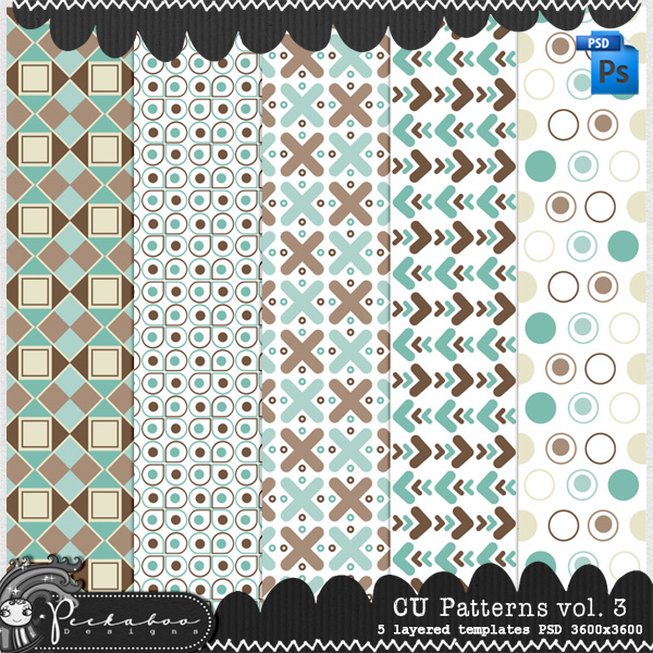 Pattern Template Paper vol 03 by Peek a Boo Designs