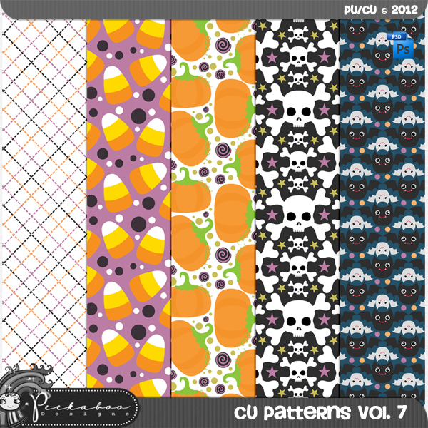 Halloween Pattern Template Paper vol 07 by Peek a Boo Designs