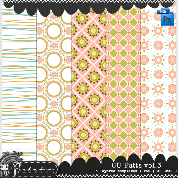 Pattern Template Paper 03 by Peek a Boo Designs