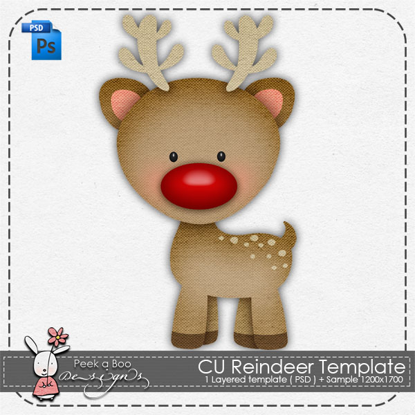 Reindeer Layered Template by Peek a Boo Designs