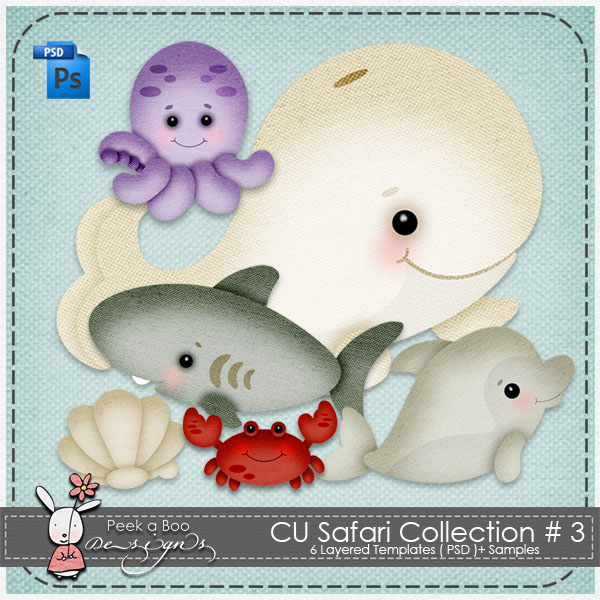 Safari Collection Layered Template 3 by Peek a Boo Designs