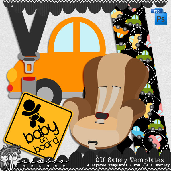 Baby Car Safety Layered Template by Peek a Boo Designs