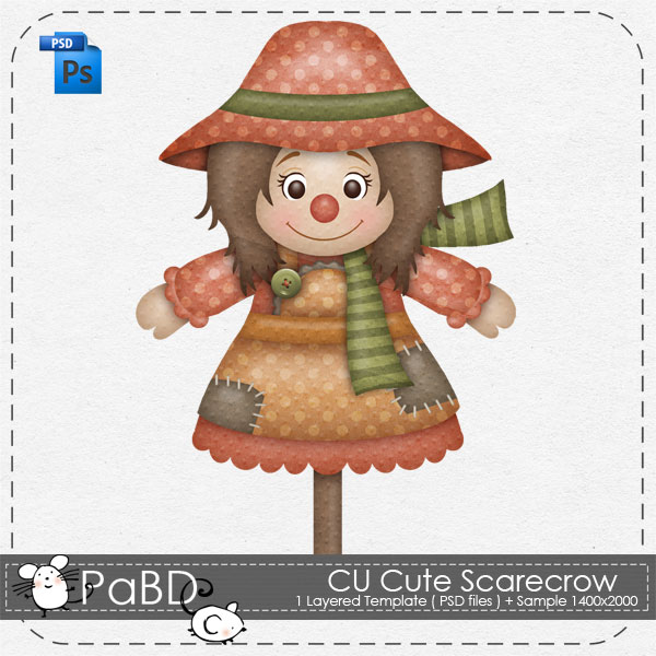 Cute Scarecrow Layered Template By Peek A Boo Designs Cute Scarecrow