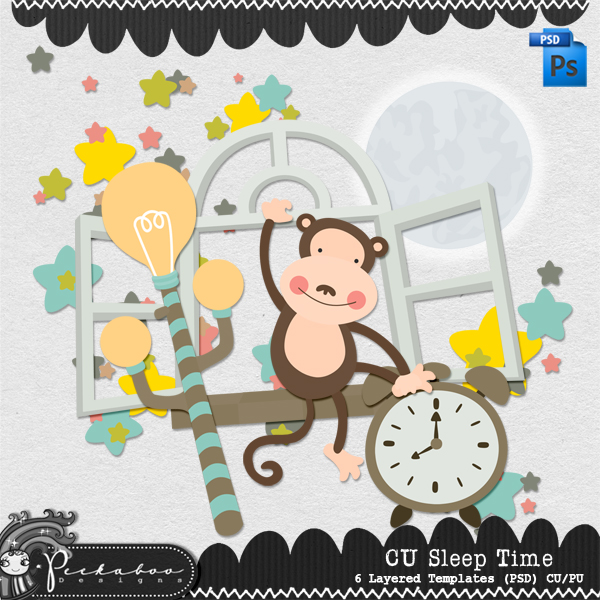 Sleep Time Layered Template by Peek a Boo Designs