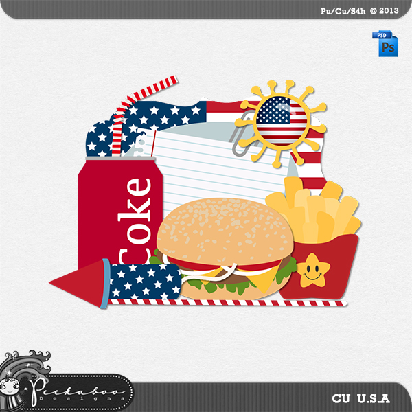USA Layered Template by Peek a Boo Designs