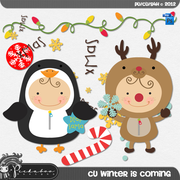 Winter is Coming Layered Template by Peek a Boo Designs