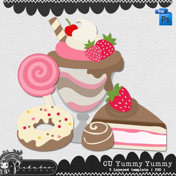Yummy Yummy Layered Template by Peek a Boo Designs