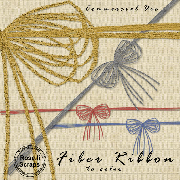 Fiber Ribbon PNG Template by Rose.li